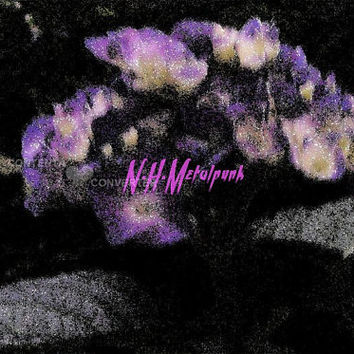 Rhododendron Flower Purple and White Art Print - Instant Printable Digital Download