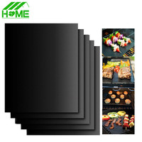 Teflon Non-stick Reusable BBQ Grill Mat Sheet Baking Mat for Barbecue Sheet Cooking Outdoor Barbeque BBQ Accessories 40X33CM