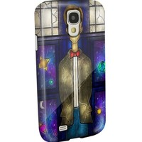 Dr Who Tardis Box Stainned Glass for Iphone and Samsung (Samsung Galaxy s4)