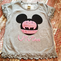 Bat Super hero Miss Mouse Custom embroidered Disney Inspired Vacation Shirt