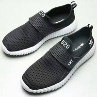 """ADIDAS""Fashion running Classic coconut shoes couples sports shoes black White soles G-AHXF"
