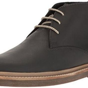 DCCK8BW Clarks Men's Bushacre Ridge Chukka Boot Black 10 M US