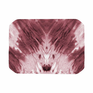 "Kess Original ""Red Dye"" Abstract White Place Mat"