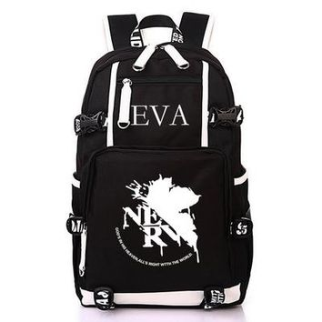 Student Backpack Children Neon Genesis Evangelion Canvas School Bag EVA Ayanami Rei Cosplay Student Backpack School Bookbag Computer Travel Backpacks AT_49_3