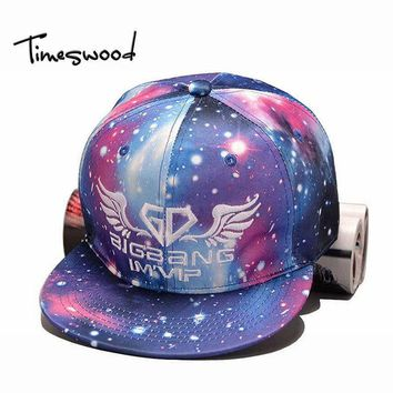New Novelty Women 3D Baseball Cap Creative GD Galaxy-Style Snapbacks Hat Funny Female Blue Star Snapback Street HipHop Casquette
