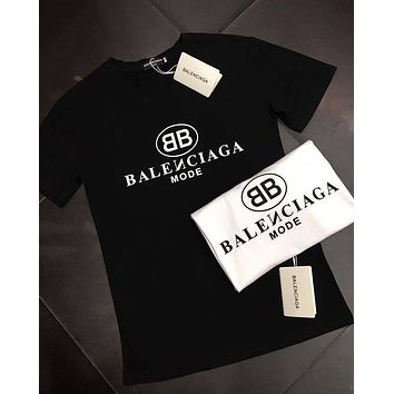 Balenciaga Womens Cotton T-shirt Summer