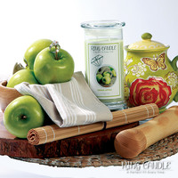 Green Apple Ring Candle