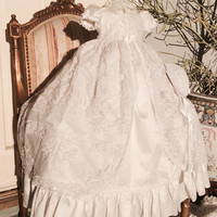 """""""Adelina"""" christening gown-baptism heirloom gown-bautizos"""