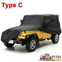 Car Cover for Jeep Wrangler 2/4 Doors Car Covers Portable Semi Waterproof UV-Proof Camouflage Silver Black High Quality