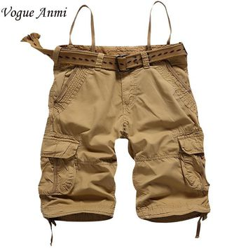 Vogue Anmi.Summer Men shorts Army Cargo Work Casual bermuda masculina Shorts Fashion Overall Squad Match Trousers Size 42 Short