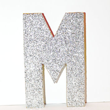 Glitter Letter Monogram Decoration A-Z