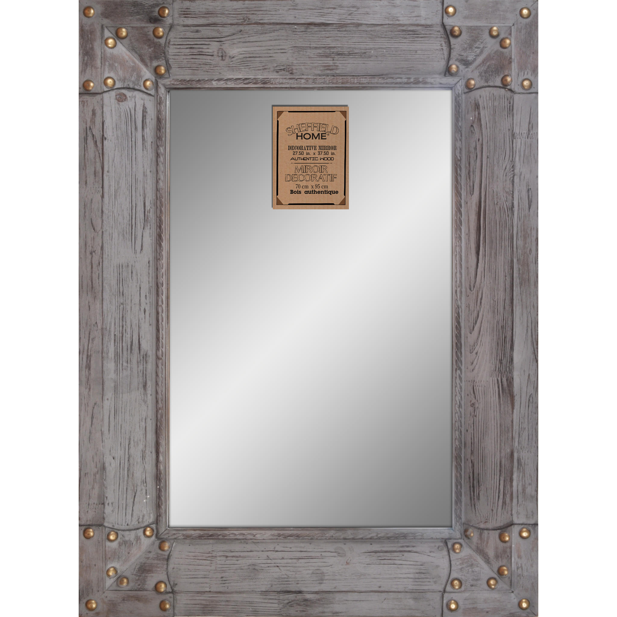 Weathered wooden framed mirror from light accents things for Wooden mirror