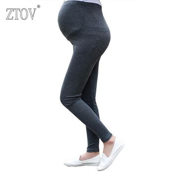 ZTOV Spring Autumn Cotton Maternity Leggings Pants for pregnant women High Waist pregnancy leggings clothes maternity clothing