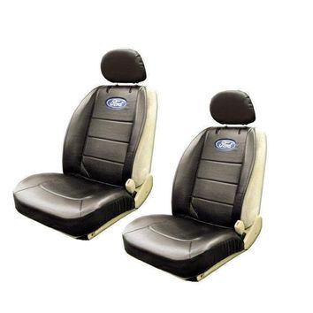 Licensed Official New 2pcs Set Ford Elite Logo Sideless Car Truck Front Seat Covers by PlastiColor