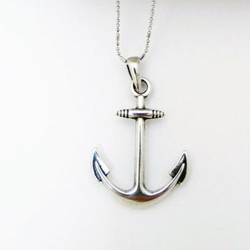 Anchor Pendant, Men's Silver Necklace, Men's Jewelry, Men's Anchor Necklace, Gift For Him, Unisex Pendant, Jewelry For Men's, 925 Pendant,