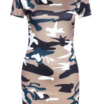Summer Dress Printed camouflage color women sexy cloth