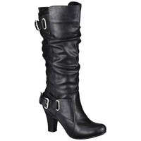 Women's Mossimo Supply Co. Kalyssa Heeled Double Buckle Boot - Black