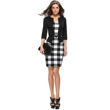Chicloth Please Forgive Me Plaid Bodycon Dress