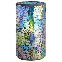Peacock Mosaic LED Candle - 3x6
