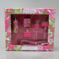 Lilly Pulitzer Charging Kit - Beach Rose
