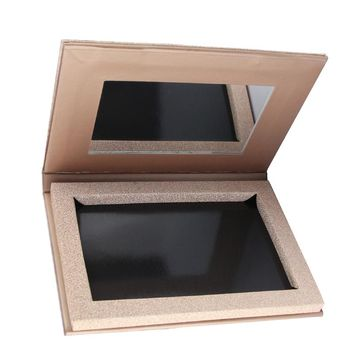Empty Rose Gold Magnetic Eyeshadow Palette, Fill 6*36mm pans  Naked Makeup Storage With Mirror.