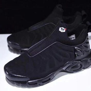 "VOND4H Nike Air Max Plus Slip SP TN Retro Running Shoes ""ALL Black�,Nike Air Max Plus Slip SP TN Retro Running Shoes ""ALL Black""size:40-45"""