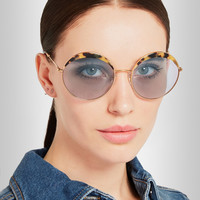 Miu Miu | Round-frame acetate and metal sunglasses | NET-A-PORTER.COM