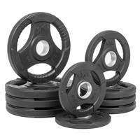 XMARK RUBBER COATED TRI-GRIP OLYMPIC PLATE WEIGHT PACKAGE XM-3377-BAL-65