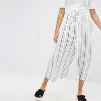 ASOS Awkward Length Stripe Culottes at asos.com