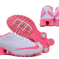 Womens Nike Shox Turbo 21 White Pink Running Shoes