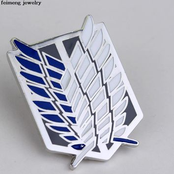 Cool Attack on Titan 4 Types  broches jewelry fashion Garment Accessories no  Scouting Legion Badge Men Women Brooch AT_90_11