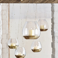 Beaded Brass Hanging Votive
