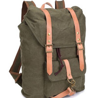 Vintage Outdoor Hiking School Canvas Backpack