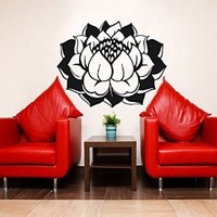 Lotus Flower Wall Decal Vinyl Sticker Wall Decor Home Interior Design Bedroom Bathroom Kitchen Art Mural Ah185