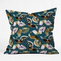 Raven Jumpo Kuda Kepang Throw Pillow