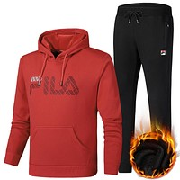 Boys & Men FILA Top Sweater Pullover Pants Trousers Set Two-Piece Sportswear