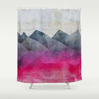 Pink Concrete Shower Curtain by Cafelab