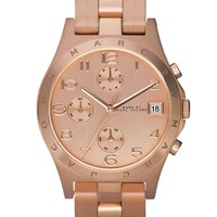 Women's MARC BY MARC JACOBS 'Henry' Chronograph Bracelet Watch, 37mm - Rose Gold