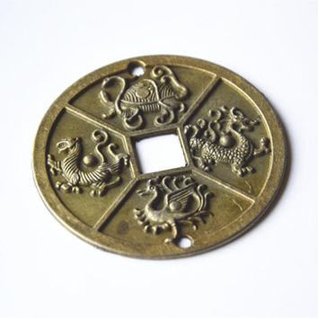 1PC Ancient Chinese Four Celestial Animal Coins