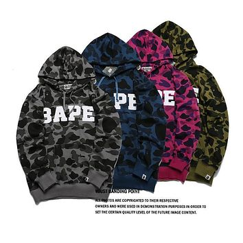 Bape Ape Head Camouflage Hoodie Sweater S ~ 2xl | Best Deal Online