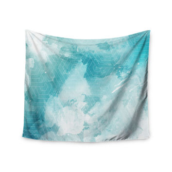 "Matt Eklund ""Skyward"" Blue White Wall Tapestry"