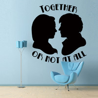 Together or Not at All - Doctor Who Wall Decal