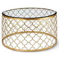 Regina Andrew Gold Leaf Mosaic Cocktail Coffee Table - 44-7857GLD