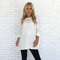 Snuggles Tunic Top In Ivory