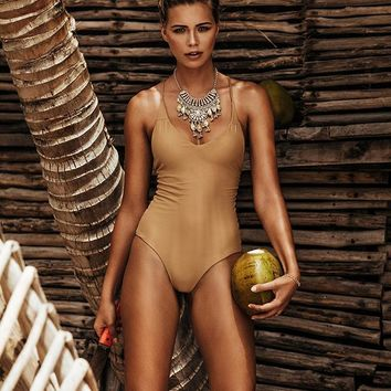 Perfect 10 One Piece - Camel