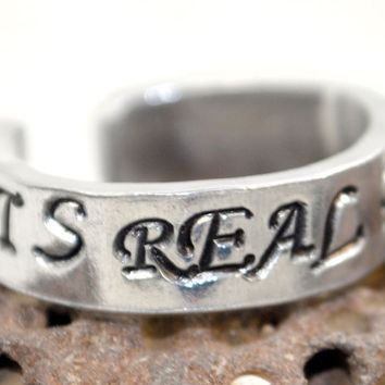 It's Real For Us  Hand Stamped Harry Potter by oneeyedfox on Etsy