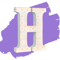 """24"""" Letter H Lighted Marquee Letters (White Gloss)"""