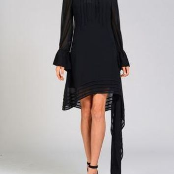 The Little Black Dress with Side Sash