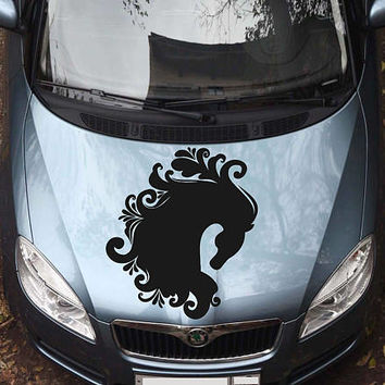 horse car hood decal horse Car Decals horse Car Truck horse Side Body Graphics Decal horse Sticker for car kikcar34