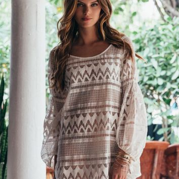 NIEVA LONG SLEEVE TUNIC